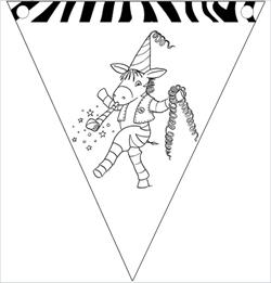 Franz Zebra Wimpelkette zum Fasching