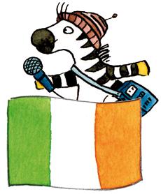 Zebra Franz in Irland