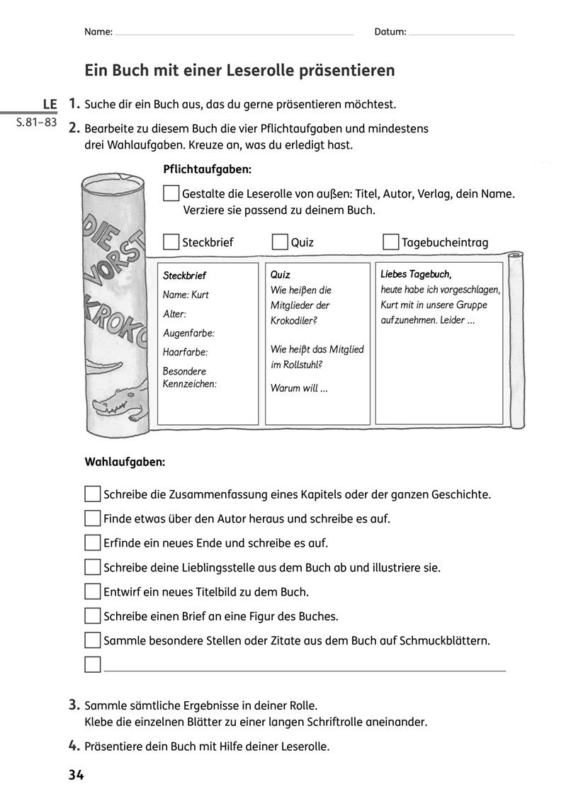 Eine Leserolle gestalten und präsentieren - Zebrafanclub - der Blog ...