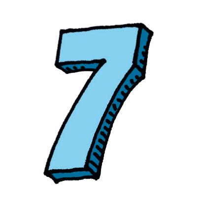 Zahl sieben