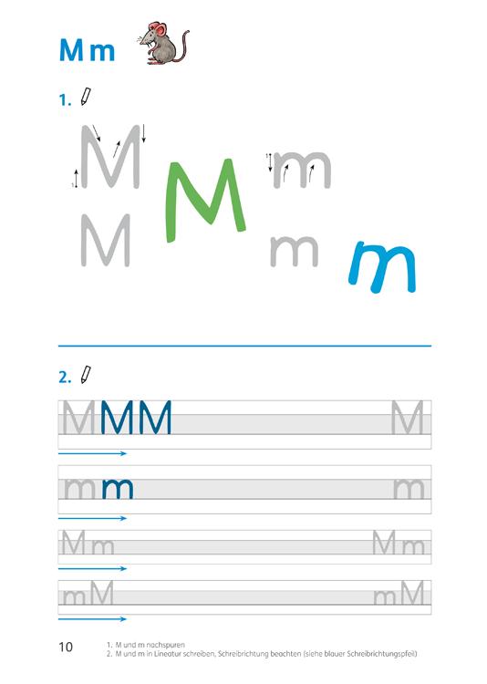 Schreibseite M
