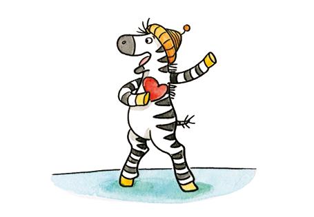Zebra mit Herz