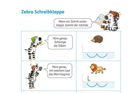 Klappe Und Action Schreiben Lernen Mit Der Zebra Schreibklappe