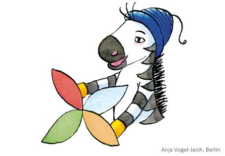 Verfassen von Texten mit der Zebra Schreibblume