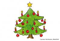 Sinnerfassendes Lesen mit einem Zebra Weihnachtsbaum Logical