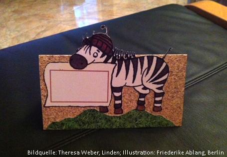 Namenskärtchen Zebraklasse einzeln