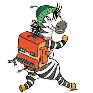 Zebra mit Ranzen