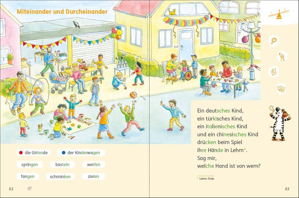 Zebra Lesebuch 2 Seite 62/63, Kapitelauftaktseite