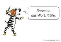 Wörter schreiben lernen mit der Zebra Schreibklappe