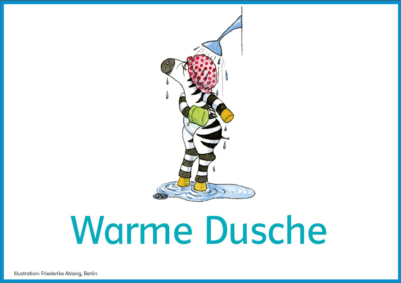 """Achtsamkeitstraining, Kartei, Beispielübung """"Warme Dusche"""""""