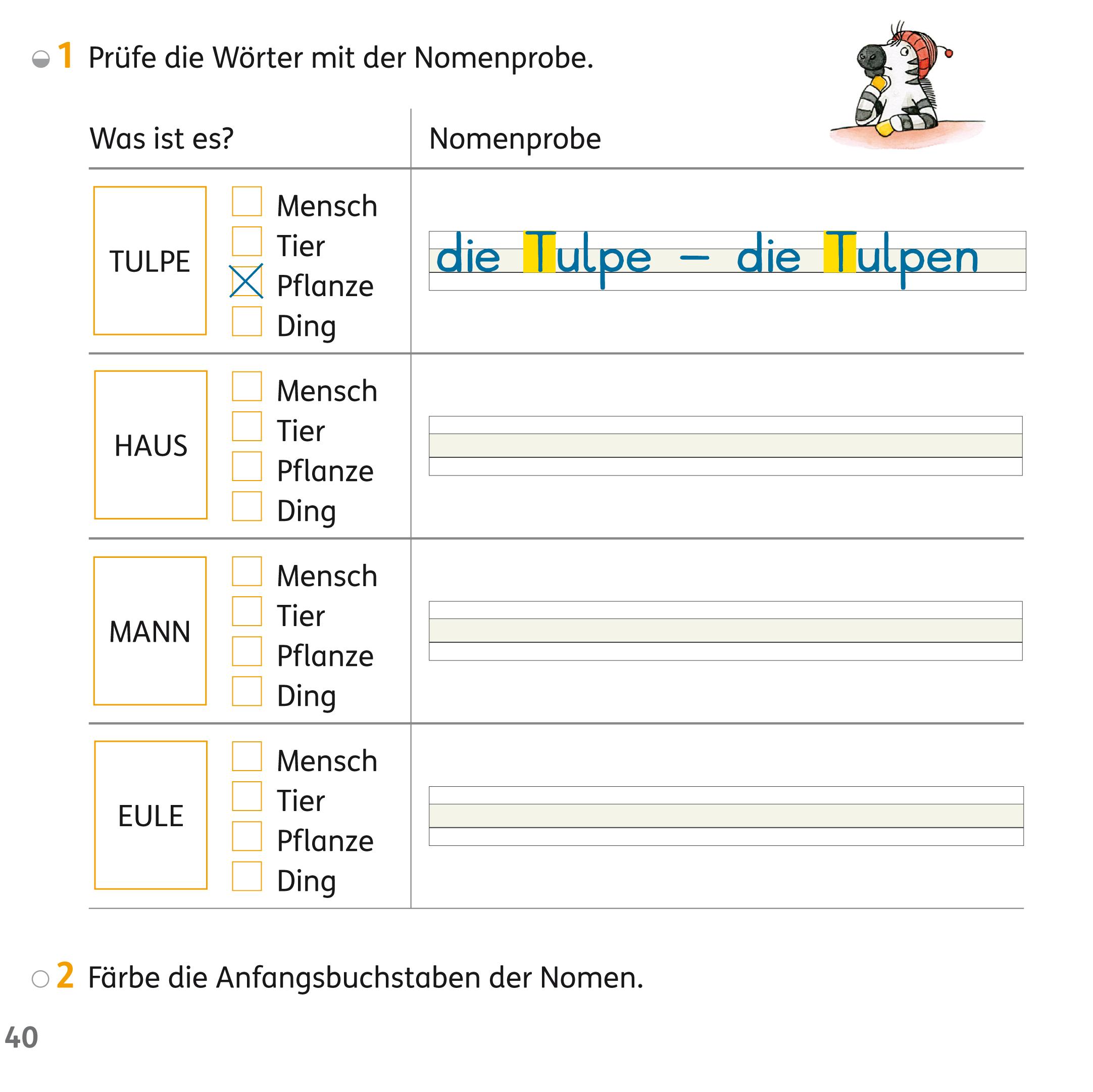 Ein Wortartenplakat zu Nomen / Substantiven von Franz Zebra ...
