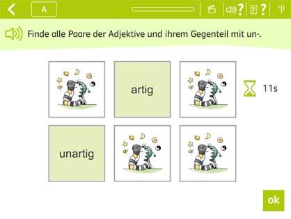 Beispielaufgabe Adjektive